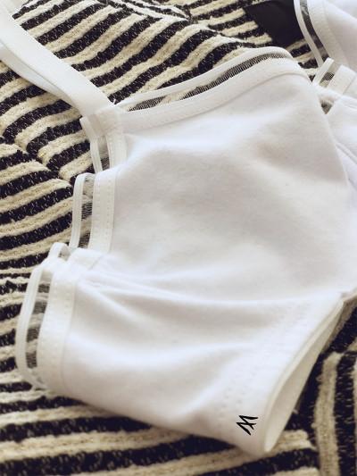 Corpiño de algodón y lycra con arco y elástico transparente