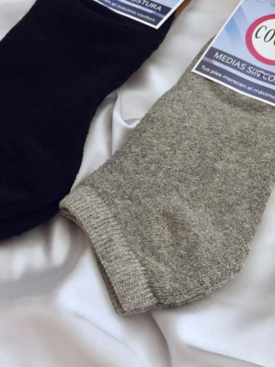 Medias invisibles lisas con toalla sin costura